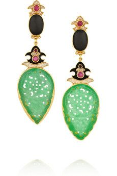 Percossi Papi Diego gold-plated multi-stone earrings | NET-A-PORTER