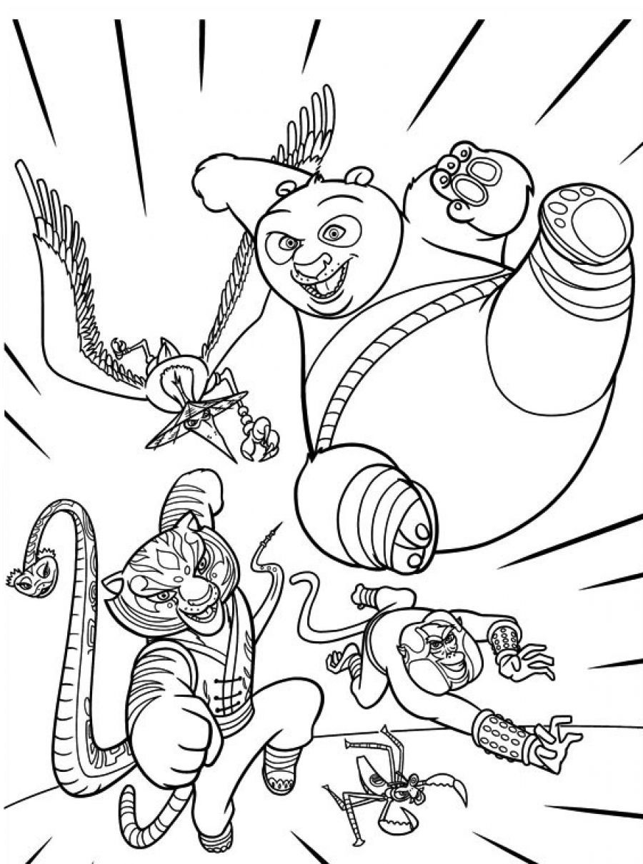 Printable coloring pages kung fu panda - Kung Fu Panda Characters Coloring Pages Jpg 900 1210 Coloring 4 Kids Dreamworks Pinterest Dreamworks