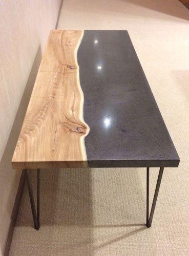 pin von sabine hemmer auf diy m bel esszimmertisch holz und wood beton. Black Bedroom Furniture Sets. Home Design Ideas