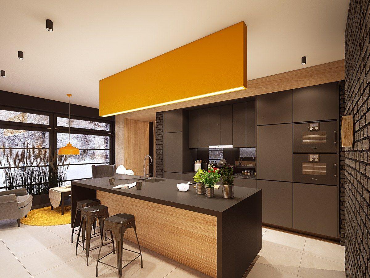 Küchen-designmöbel  beispiele für ehrfürchtige moderne küchenbeleuchtung