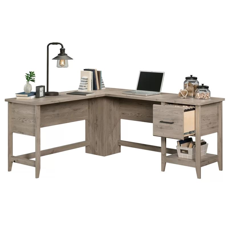 Cletus L Shape Computer Desk White L Shaped Desk Desk Small Office Desk