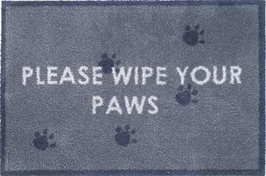 Please Wipe Your Paws Door Mat To Trap Dog And Cat Muddy Paw Prints. Made