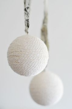 White rope bauble