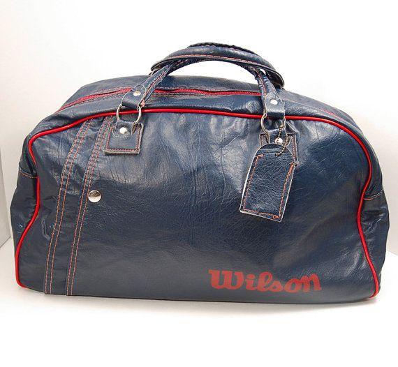 Vintage Wilson Gym / Tennis Bag by iheartvintagethrift on Etsy