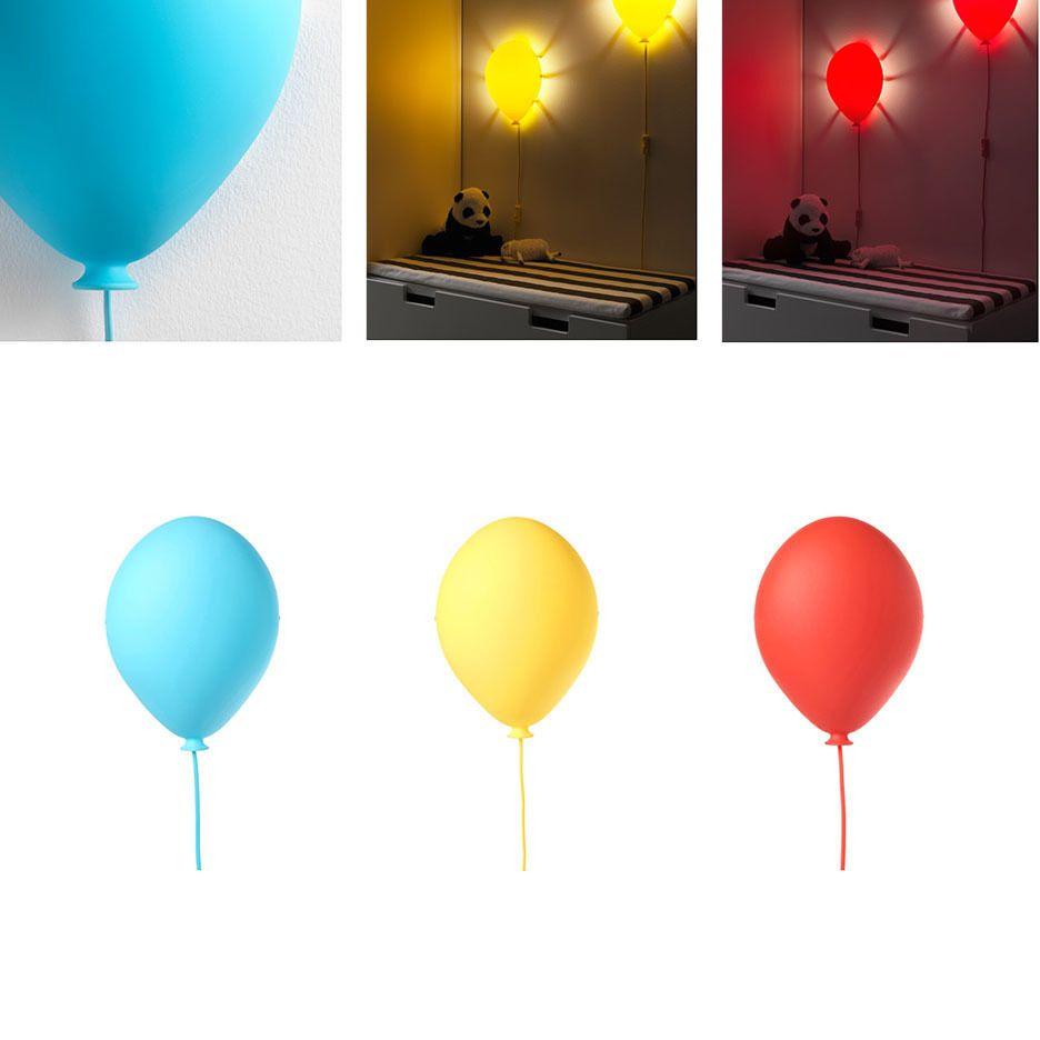 Ikea Kids Wall Lamp Night Light Balloon Shaped Dromminge Red