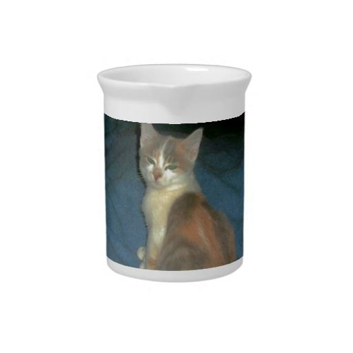 Patches Beverage Pitchers!  #kitten #zazzle #store #gift #present #customize #cute #meow #fuzzy http://www.zazzle.com/conquestkitty*