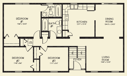 Cumberland3 Fp Png 490 293 House Plans 3 Bedroom Rectangle House Plans Bedroom Floor Plans