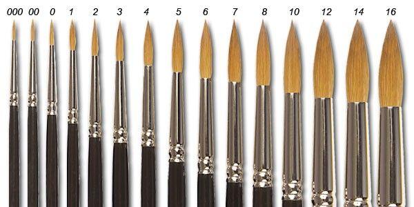 Watercolor Brush Sizes Watercolor Brushes Discount Art