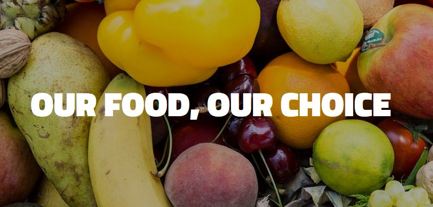 Our Food, OUR CHOICE . Challenge yourself on www.iknowwhogrewit.org