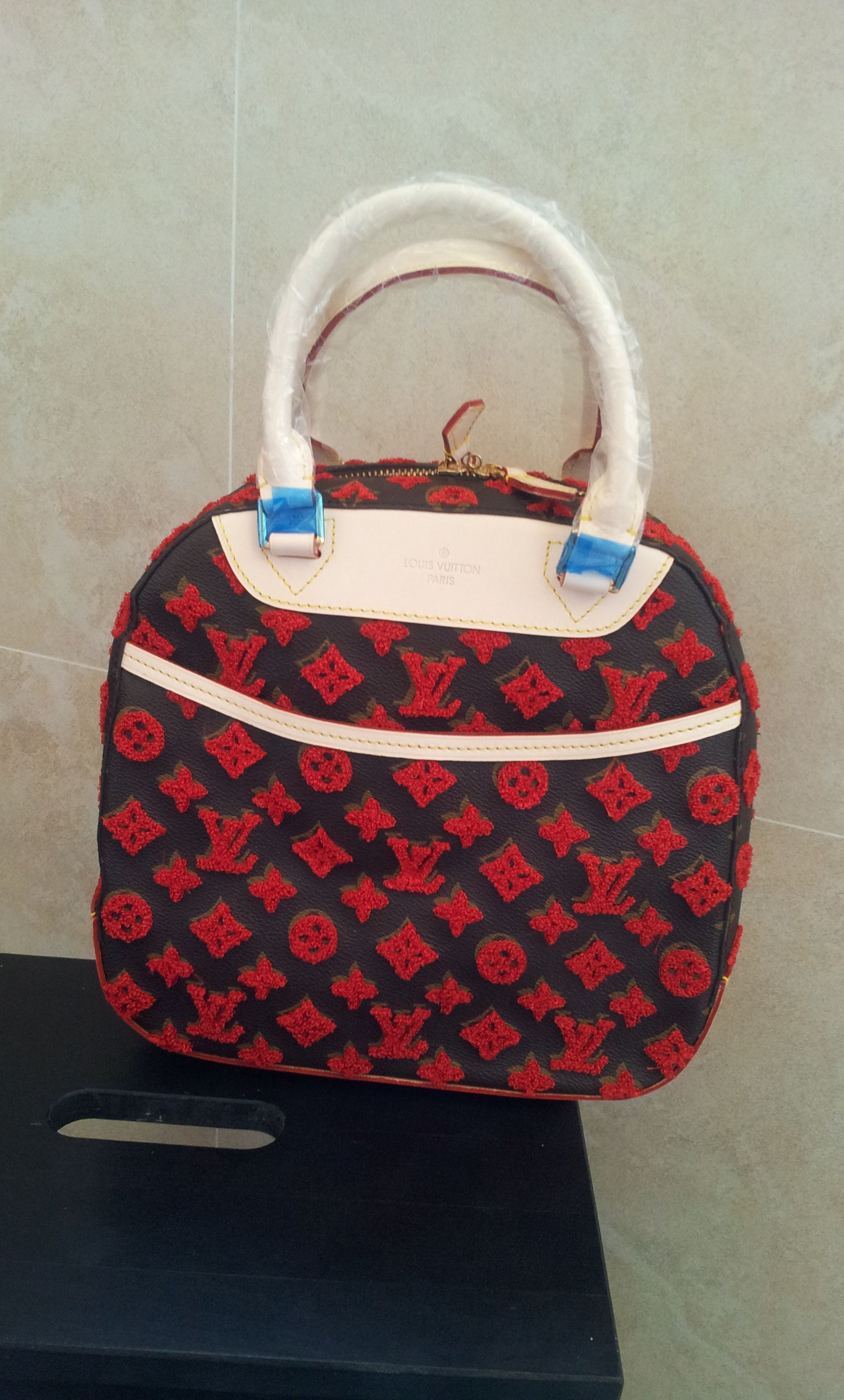 Replica Louis Vuitton Bowling prefall 2013 M40922 red. real shoot..$239+FREE shipping+on-line payment