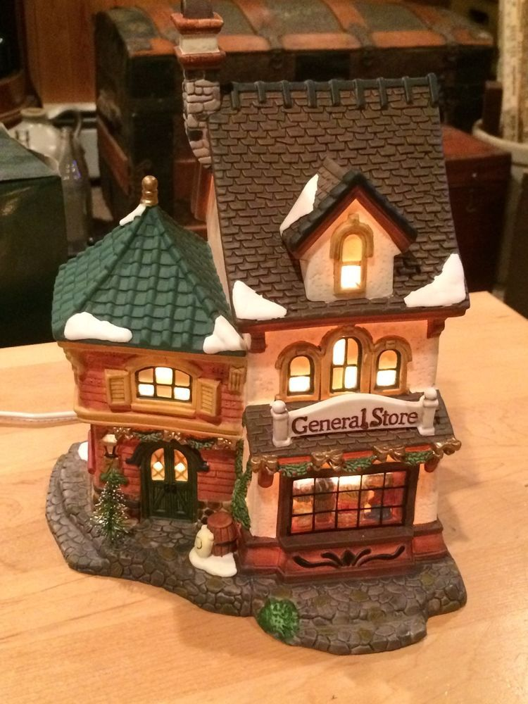 How To Store Christmas Village Houses.Heartland Valley Village Hand Painted Porcelain Christmas