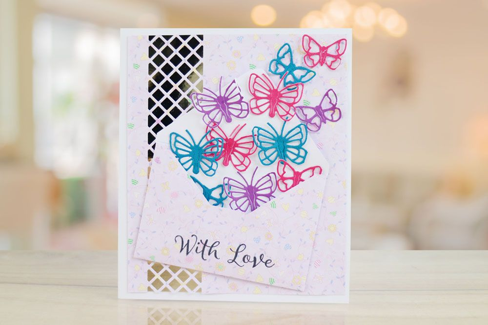 Love is in the Air Lattice Panel (TLD0099) – Tattered Lace