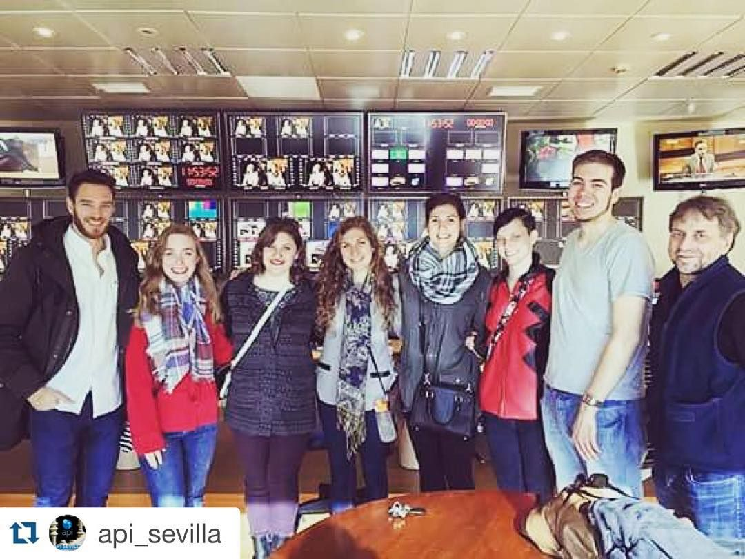 #Repost @api_sevilla Really nice visit to Canal Sur Television! The main TV channel in #andalusia :) #API #studyabroad #ispyapi