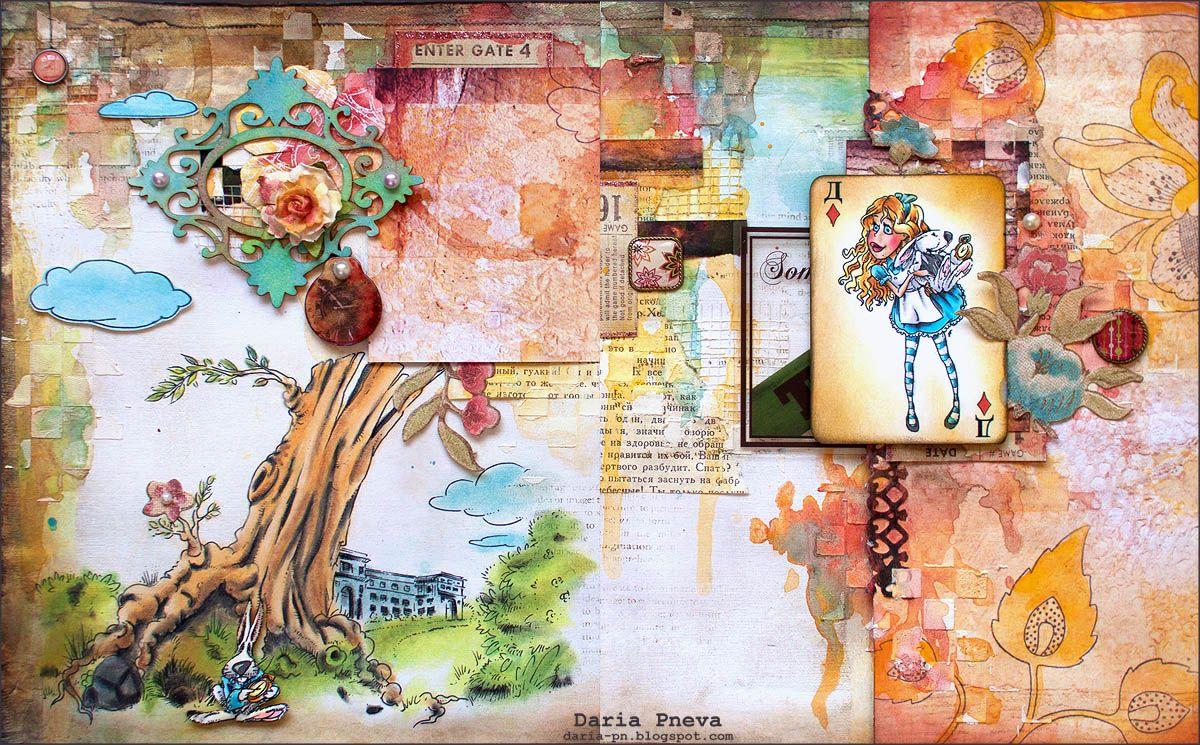 Alice digi timbre dans les images numériques - Alice au pays des merveilles