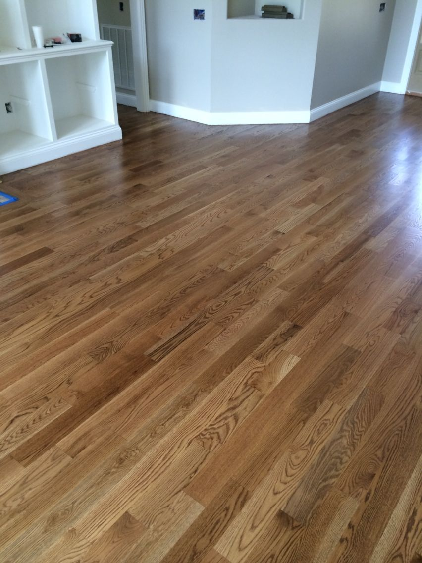 Special walnut floor color from minwax satin finish new for New home flooring