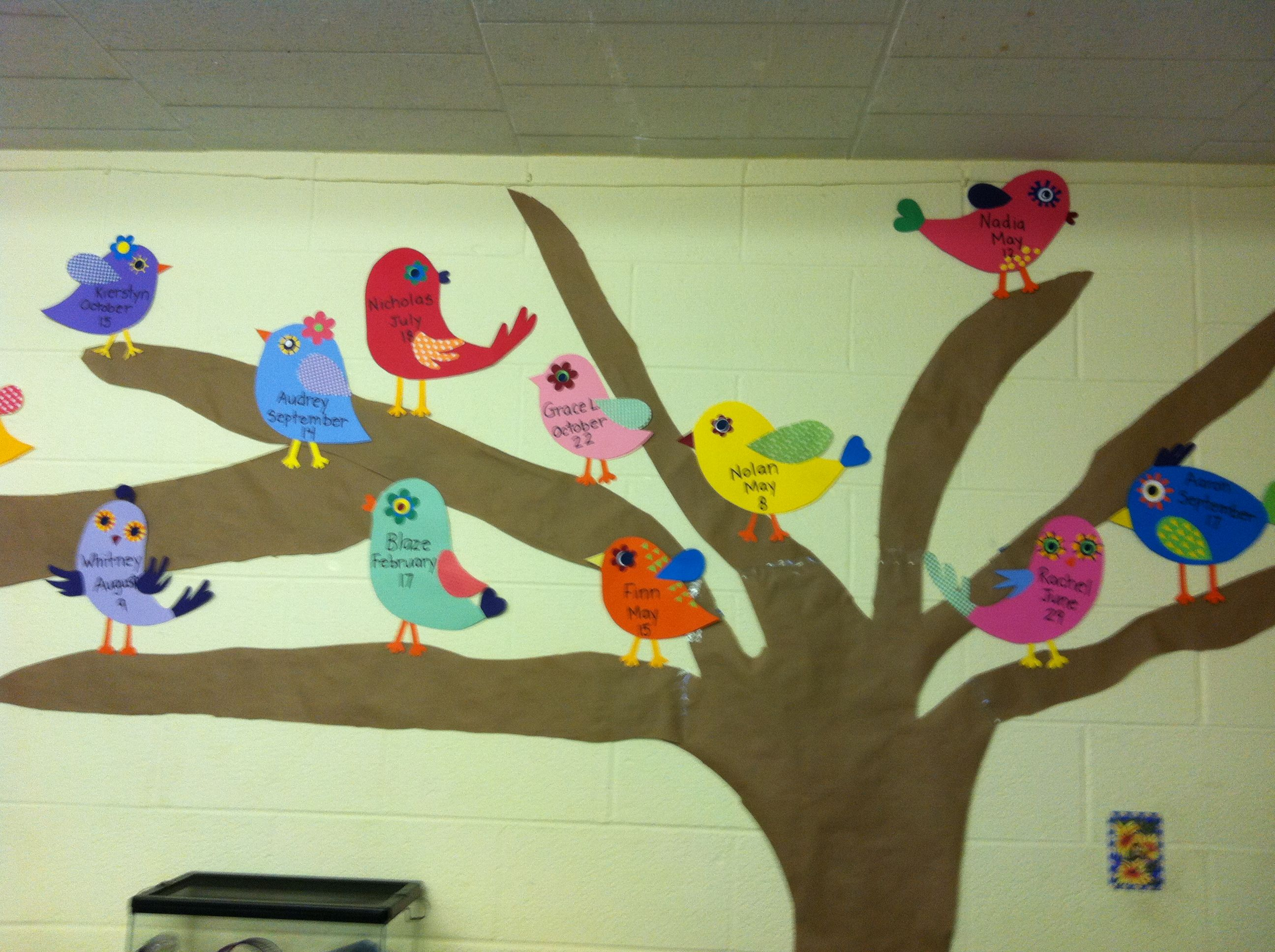 One Of The Sweetest Birthday Displays Weve Ever Seen Birds On A Tree