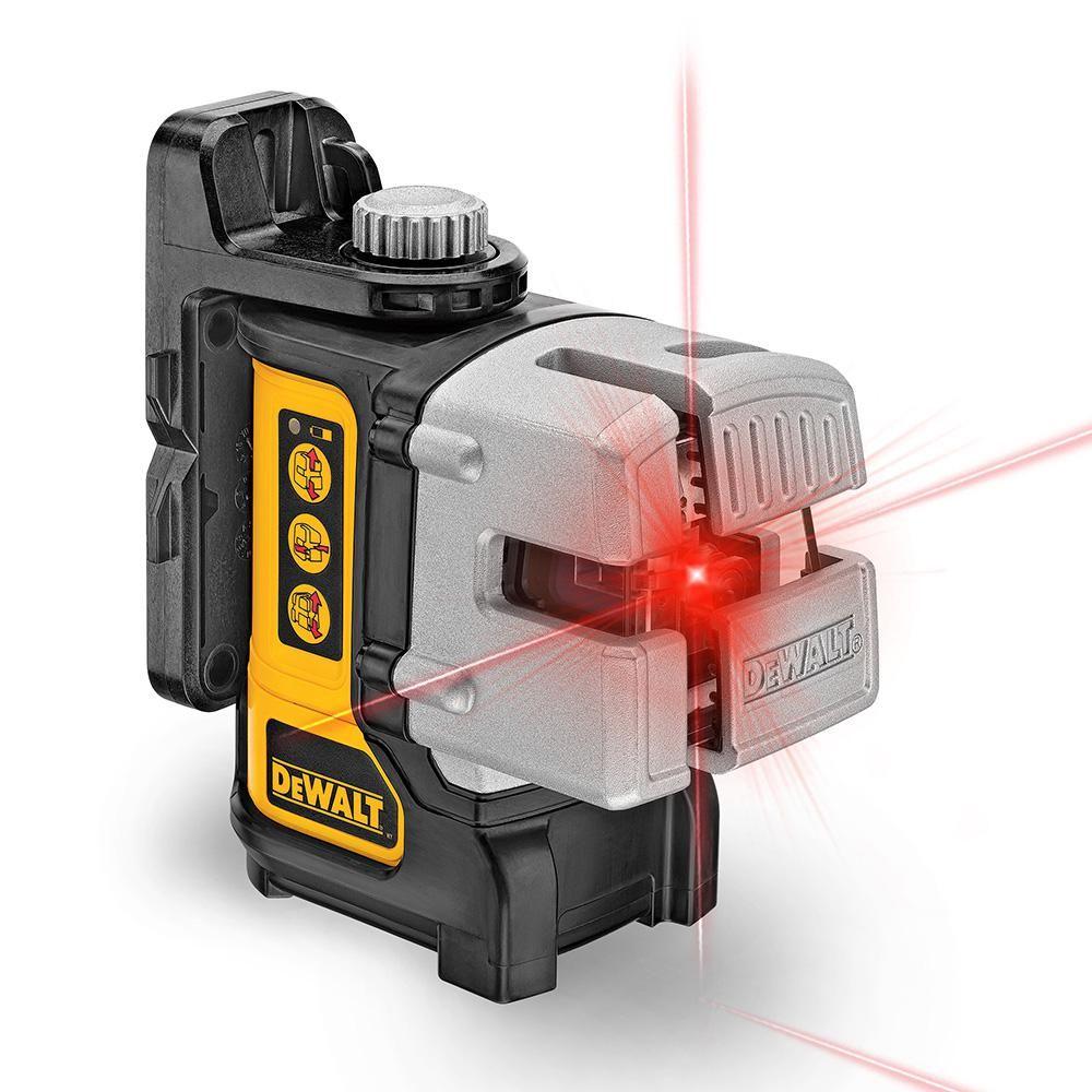 Dewalt 50 Ft 165 Ft Red Self Leveling 3 Beam Cross Line Laser Level With 4 Aa Batteries Case Dw089k Dewalt Laser Levels Beams