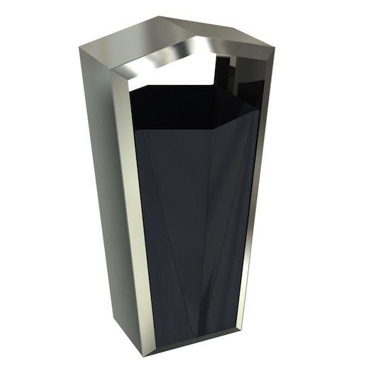 Raphael Poubelle Pour Exterieur Design Inox Avec Sans Cendrier 50l Garbage Storage Litter Bin Recycling Bins