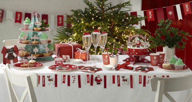 Reussir Sa Decoration Table De Noel Rouge Et Blanc