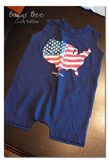 T-Shirt into Baby Romper - Sugar Bee Crafts