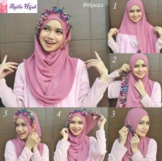Cara Mudah Pakai Hijab Segi Empat Modern Bagi Pemula Hijab