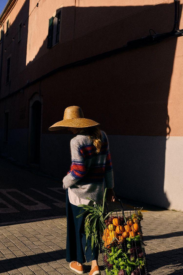5a83a155 CLARA WIDE BRIM STRAW HAT   Hand woven from palm leaf by craftsmen in  Mexico. Widy, floppy brim. Grosgrain tape around interior.