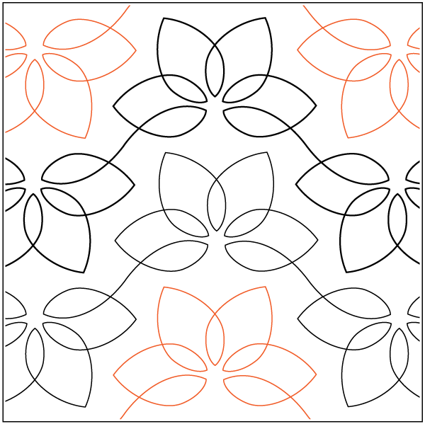 Lotus Blossom - Pantograph | Free Motion Quilting | Pinterest ... : free pantographs for quilting - Adamdwight.com