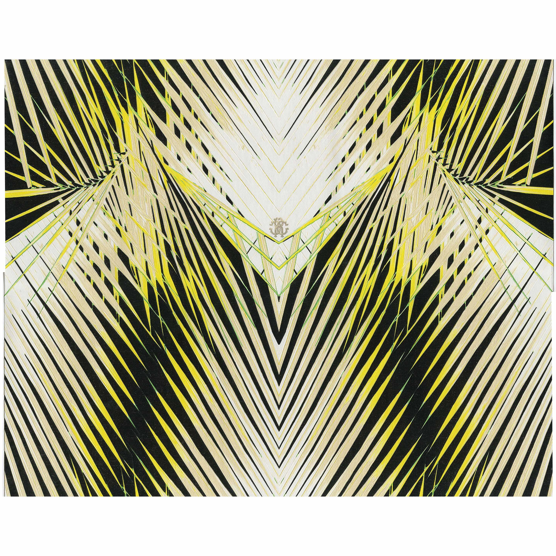 Papier Peint Vinyle Roberto Cavalli Feuille Jaune Products