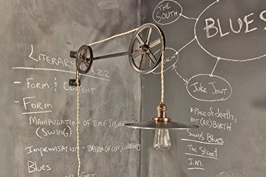 Amazon.com : Vintage Industrial Pulley Lamp - The Draftsman Light : Everything Else