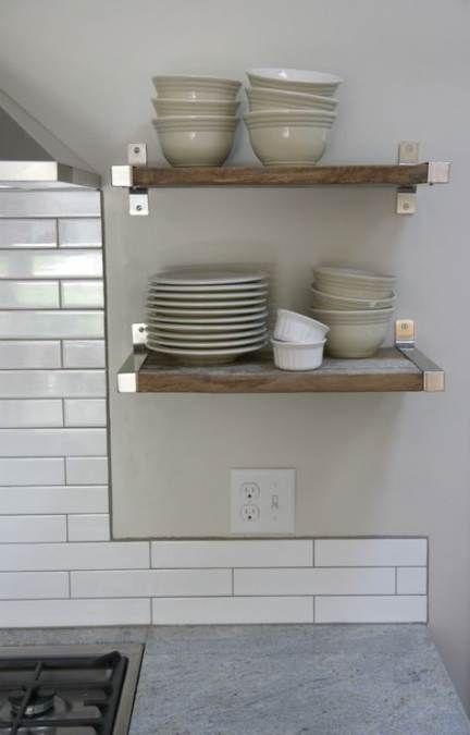 Kitchen Open Shelving Ikea Shelf Brackets 53+ Ideas For ...