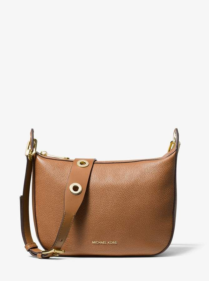 michael michael kors barlow medium pebbled leather messenger rh pinterest com
