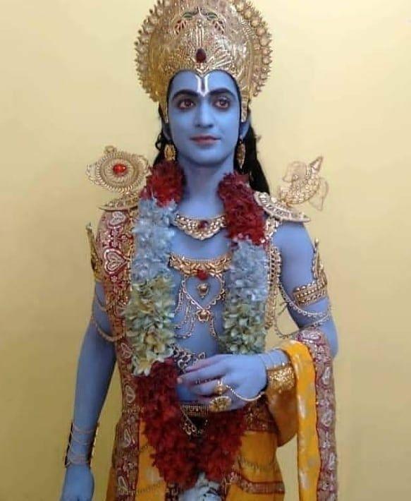 So divine Lord Vishnu look!!!!!🙈🙈🤩😍 . @beatking_sumedh