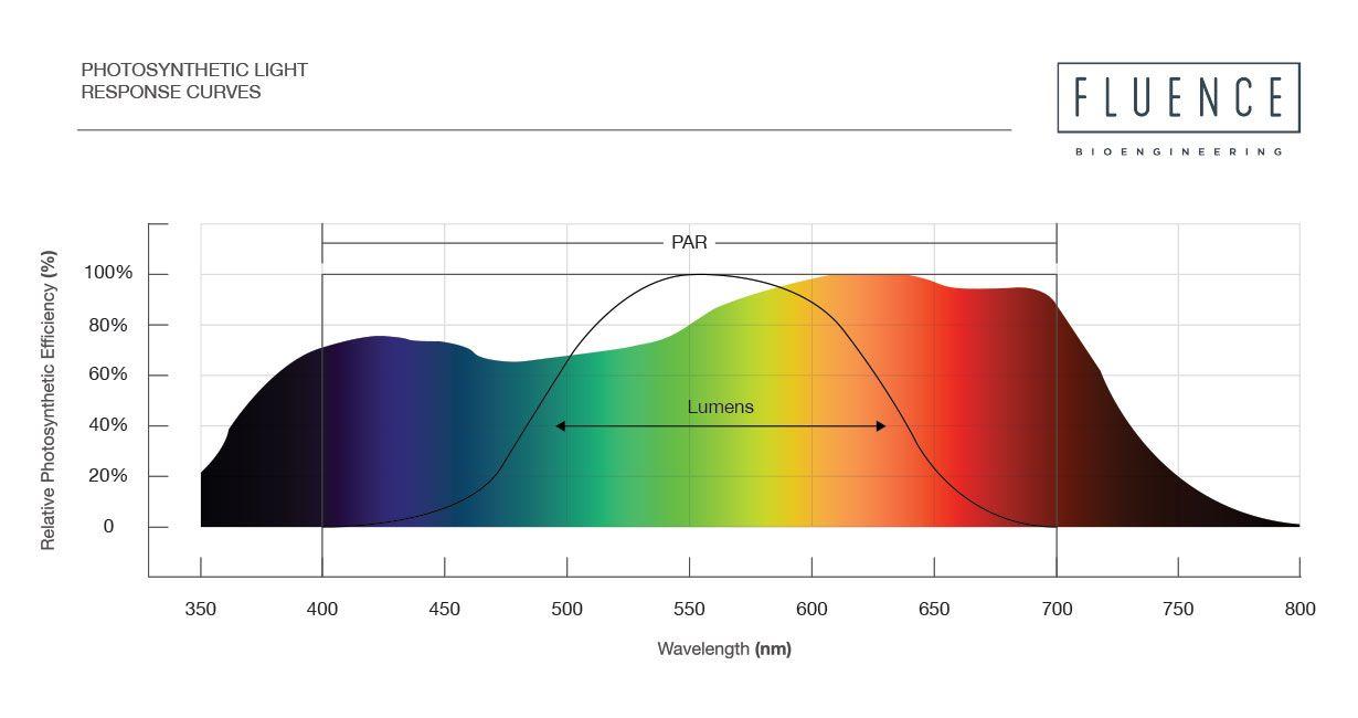 Photosynthetic light response curves chart | PPFD