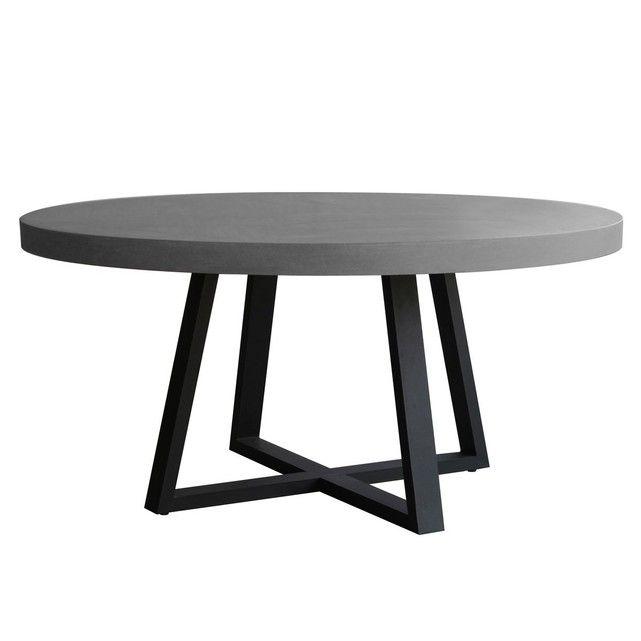 49985a4faa2 Table basse ronde en métal reposant sur trois pieds tripode by Ado Chale