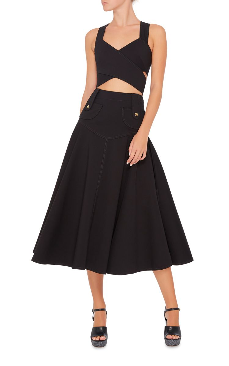 High Waist Flare Mini Skirt by Derek Lam   Moda Operandi