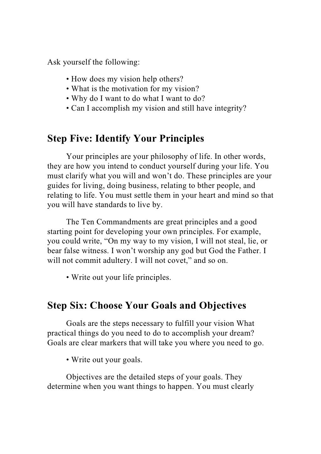 Writing Your Personal Vision Plan Essay About Life Life Philosophy My Philosophy