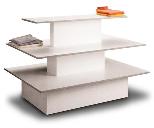 White 3 Tier Display Table 20 900 Bin And Basket Systems Diseno De Muebles Tienda De Zapatos Disenos De Unas