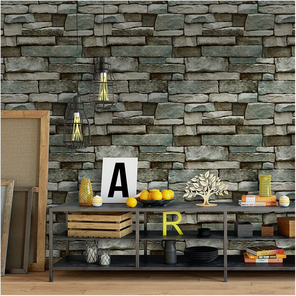 Product Stone Peel And Stick Contact Wallpaper Material Vinyl Peel Stick Self Adhesive Wallpaper Faux Brick Wallpaper Wallpaper Decor Faux Stone Wallpaper
