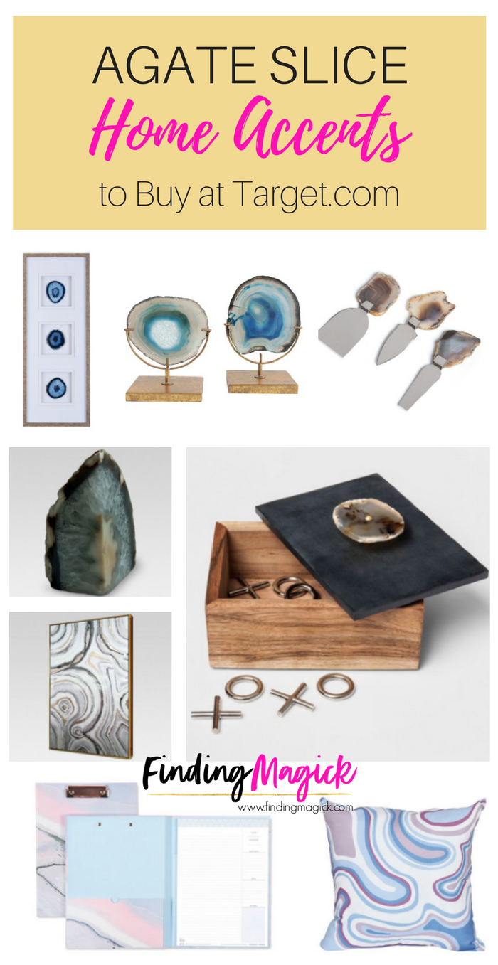 8 Agate Geode Home Accents At Target Com Geode Decor Agate Decor Home Accents
