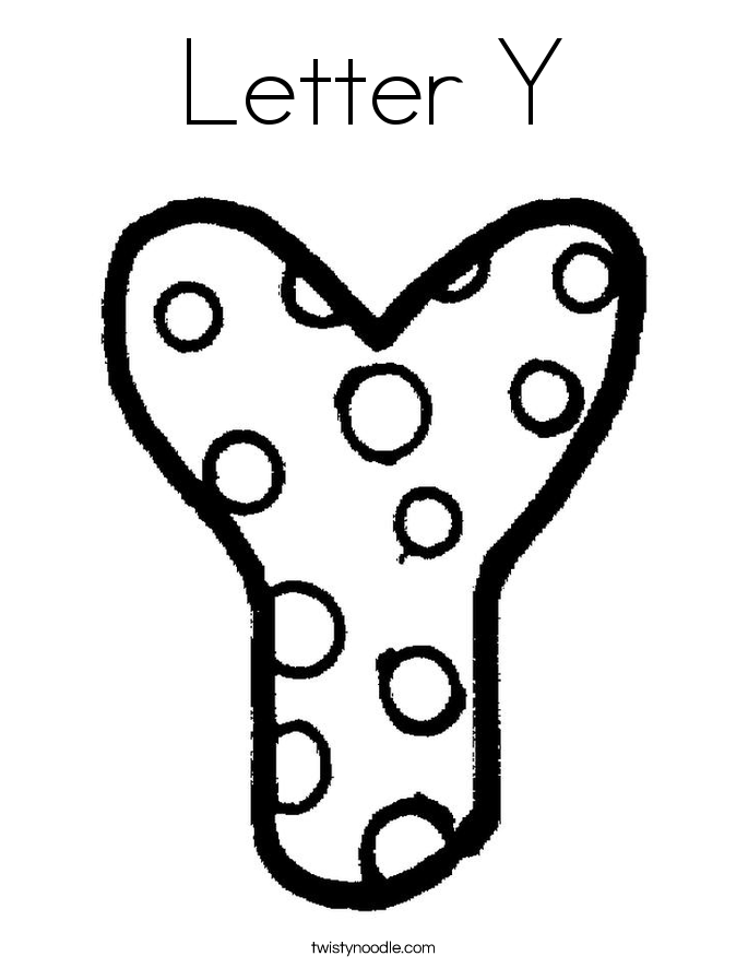 Letter Y Coloring Page Coloring Letters Alphabet Coloring Pages Cool Coloring Pages