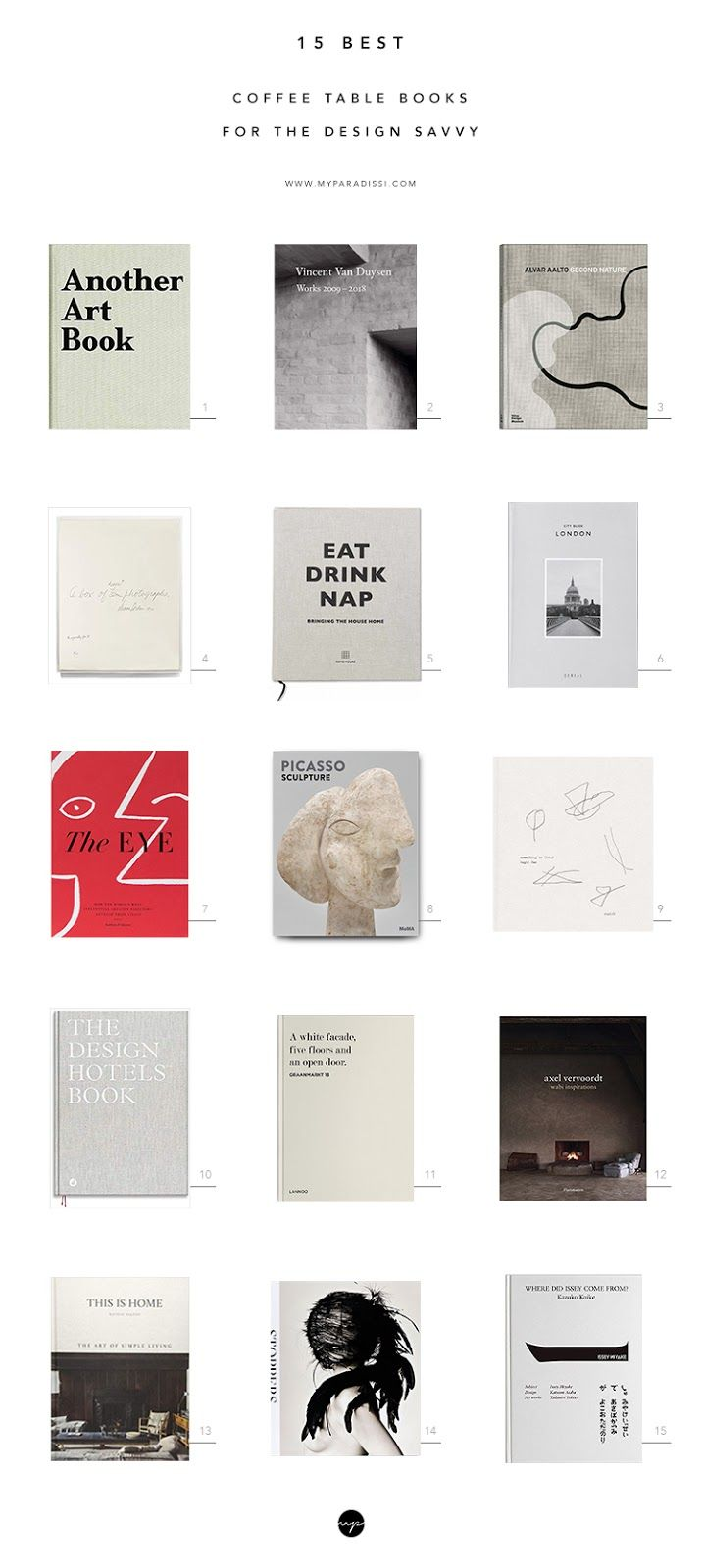 15 Best Coffee Table Books For The Design Savvy Best Coffee Table Books Minimalist Book Coffee Table Books
