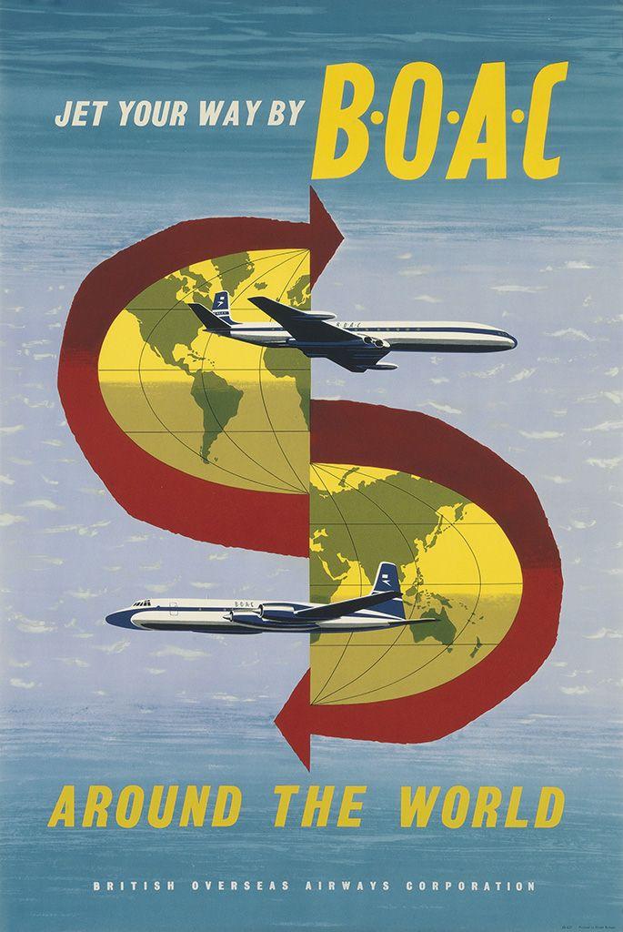 Pakistan Vintage Airline Advert Print Airways Old Photo Retro Poster BOAC