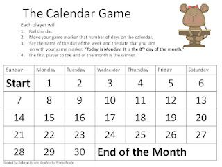 Here S A Calendar Game Where Students Practice Saying The