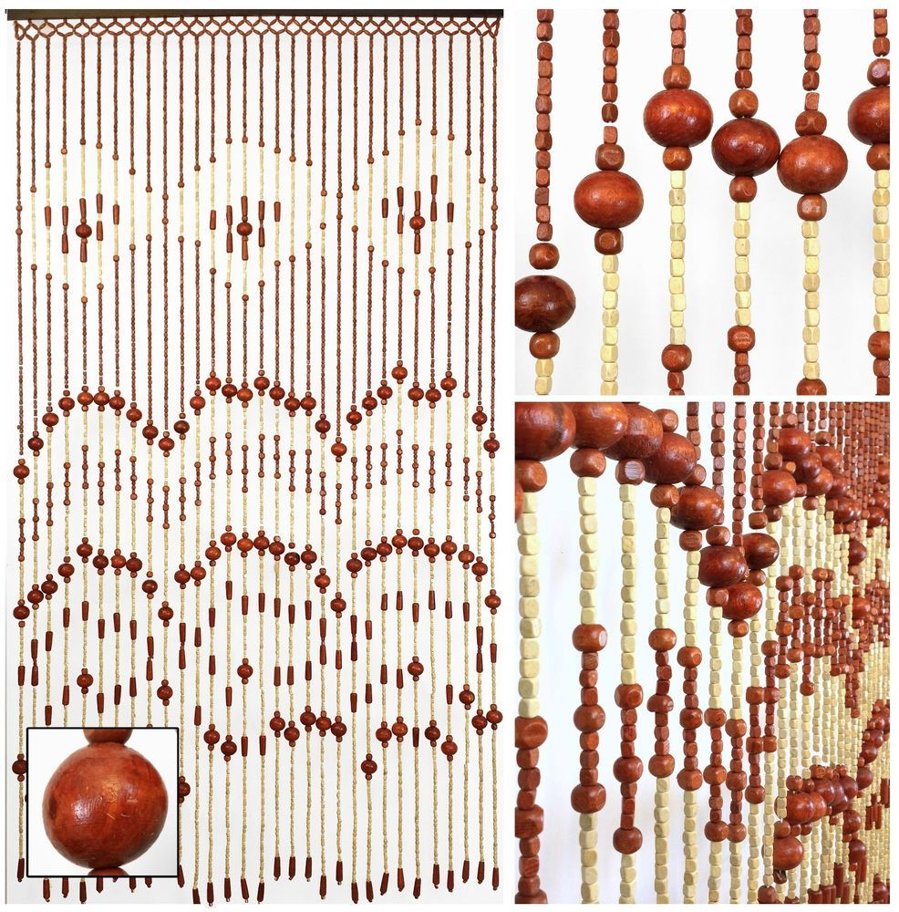 Details About Wood Beaded Curtain-Door Beads-52 STRANDS