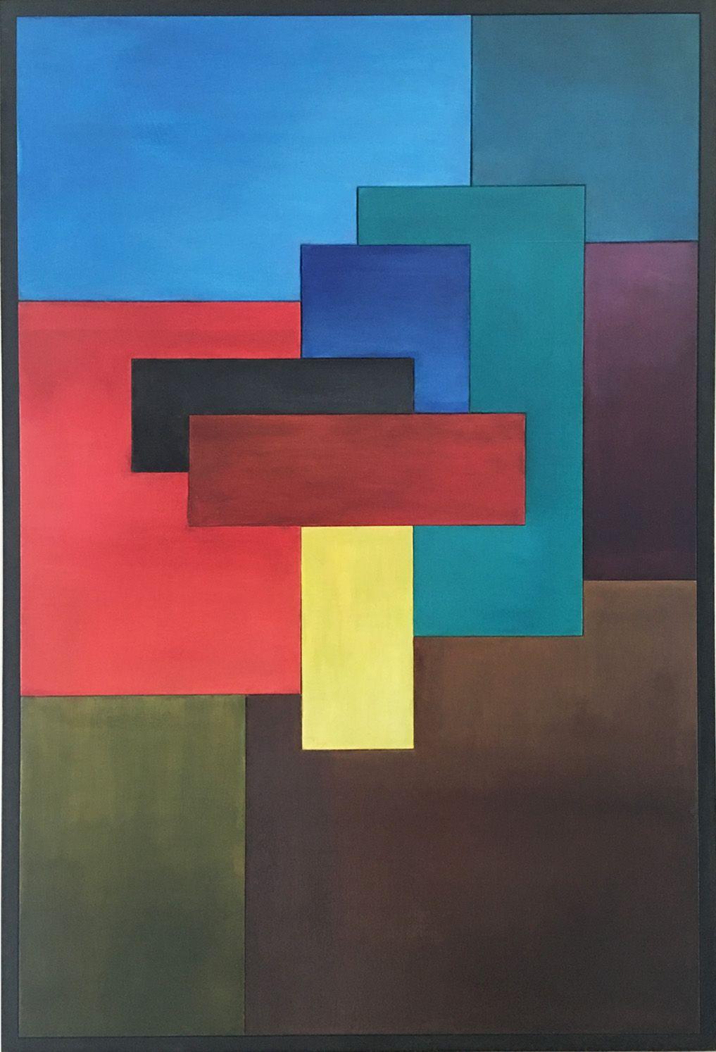 tableau en bois peint peinture l 39 huile le temps 60x90 cm prix 1650 art contemporain. Black Bedroom Furniture Sets. Home Design Ideas