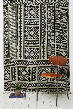 Wandbehang mit marokkanischem Kachelmuster - Urban Outfitters
