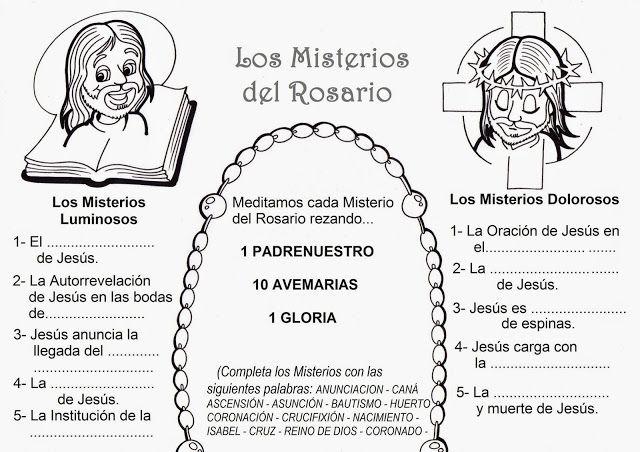 Los Misterios Del Rosario Parte 1 Misterios Del Rosario Santo Rosario Rosarios