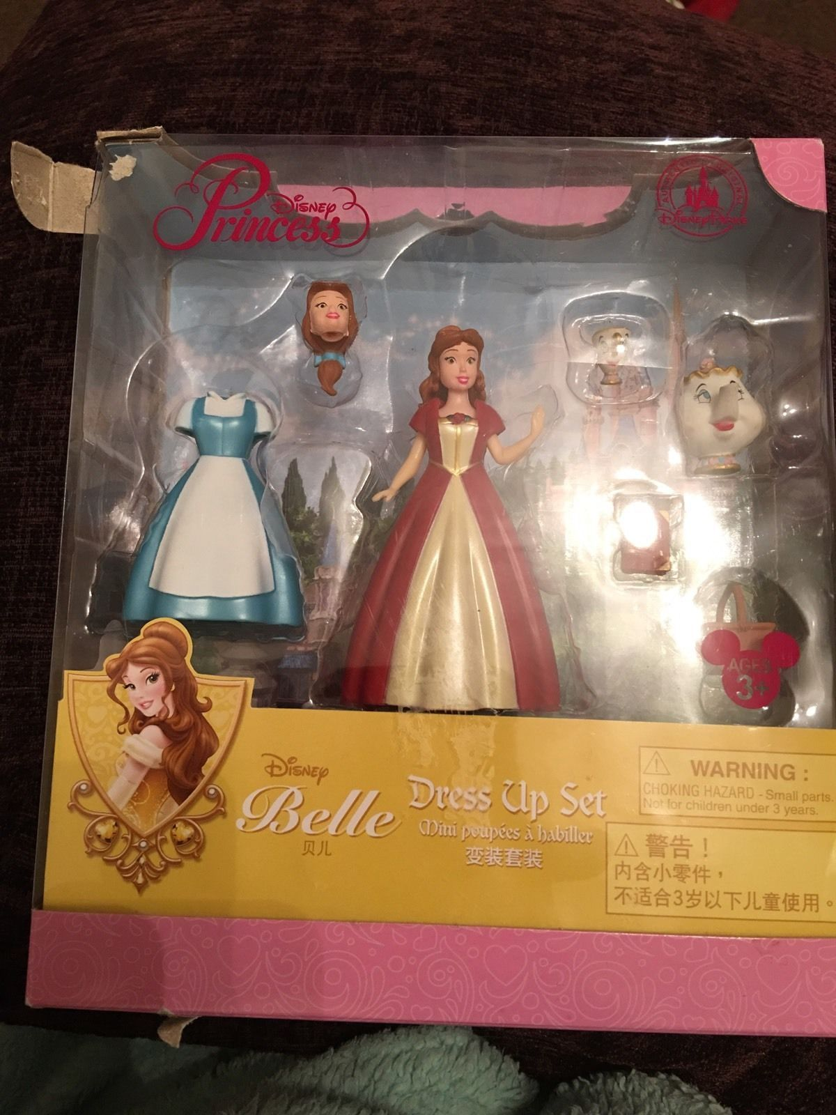 Disney Belle Dress Up Set Authentic Disney Parks Clip Dress Mini