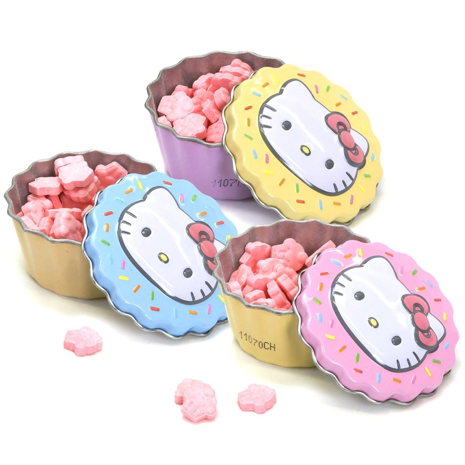 Hello Kitty Sweet Cupcake Candy Tin - Includes (1) assorted candy tin with sweet candies, our choice please. Contains 0.8 ozs. This is an officially licensed Hello Kitty product.