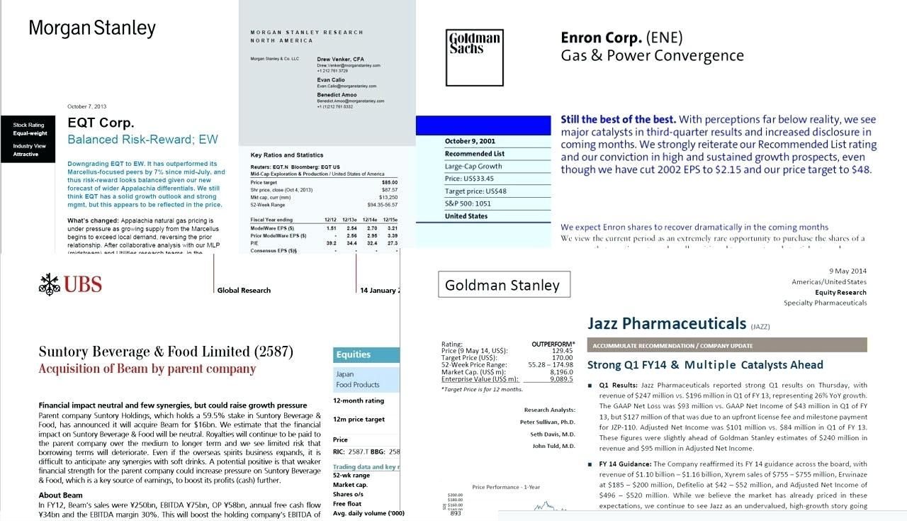 Equity Research Report Samples Tutorials And Explanations In